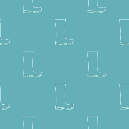 Rubber boots pattern vector seamless repeating for any web design