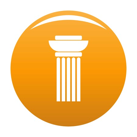 Continuous column icon. Simple illustration of continuous column vector icon for any design orange