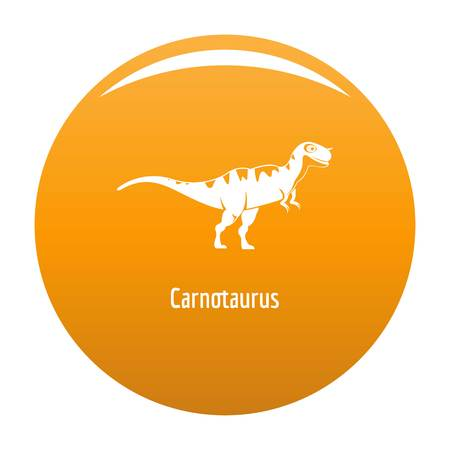 Carnotaurus icon. Simple illustration of carnotaurus vector icon for any design orange