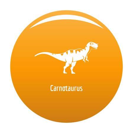 Carnotaurus icon. Simple illustration of carnotaurus vector icon for any design orange