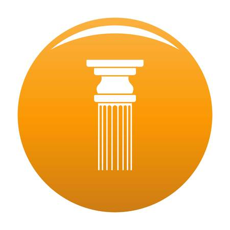 Rectangular column icon. Simple illustration of rectangular columnvector icon for any design orange Иллюстрация