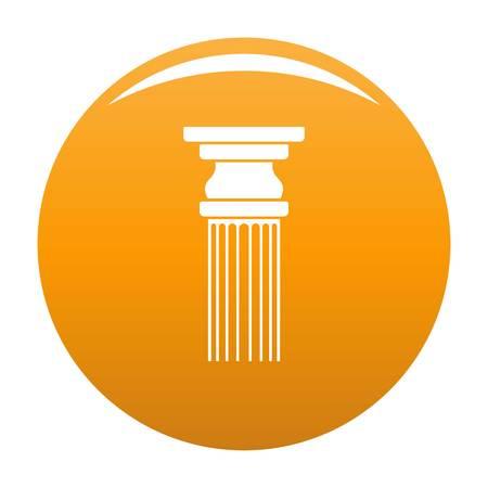 Rectangular column icon. Simple illustration of rectangular columnvector icon for any design orange Illustration