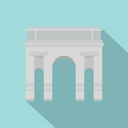 Milan arch icon. Flat illustration of milan arch vector icon for web design Vectores