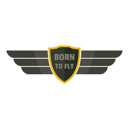 Born to fly icon logo. Flat illustration of born to fly vector icon logo for web design isolated on white background