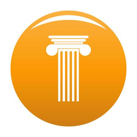 Polyhedral column icon. Simple illustration of polyhedral column vector icon for any design orange