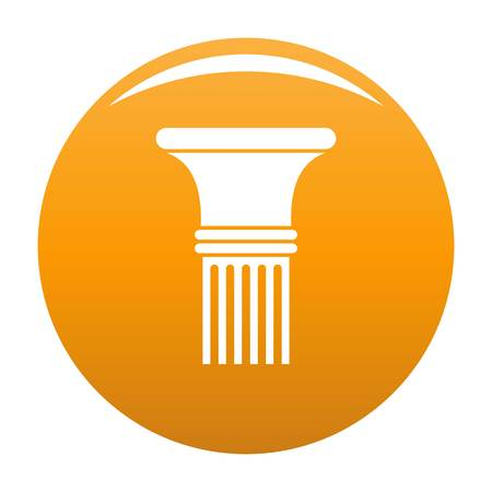Fluted column icon. Simple illustration of fluted column vector icon for any design orange