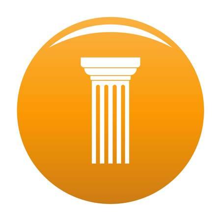 Triangular column icon. Simple illustration of triangular column vector icon for any design orange