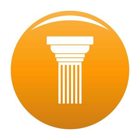 Expanding column icon. Simple illustration of expanding column vector icon for any design orange Иллюстрация