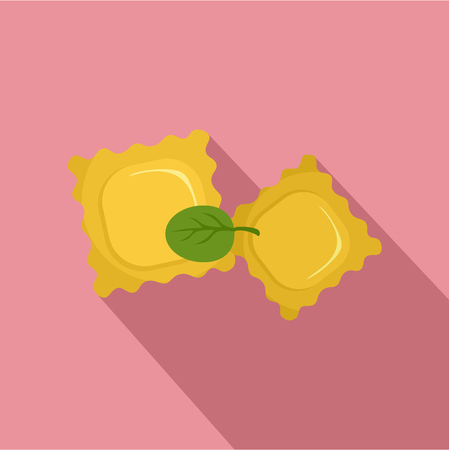 Spinach biscuits icon. Flat illustration of spinach biscuits vector icon for web design