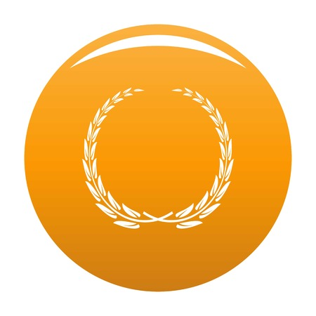Glory wreath icon. Simple illustration of glory wreath vector icon for any design orange