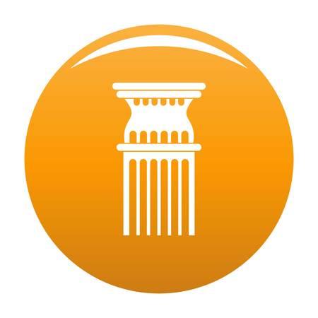 Column icon. Simple illustration of column vector icon for any design orange