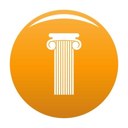 Roman column icon. Simple illustration of roman column vector icon for any design orange