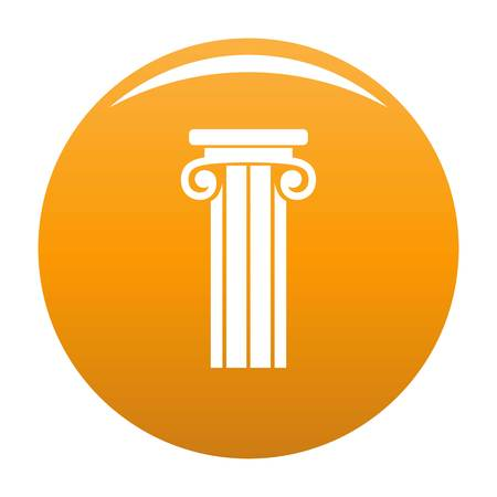 French column icon. Simple illustration of french column vector icon for any design orange