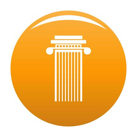 Cylindrical column icon. Simple illustration of cylindrical column vector icon for any design orange
