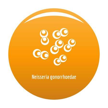 Neisseria gonorrhoedae icon. Simple illustration of neisseria gonorrhoedae vector icon for any design orange