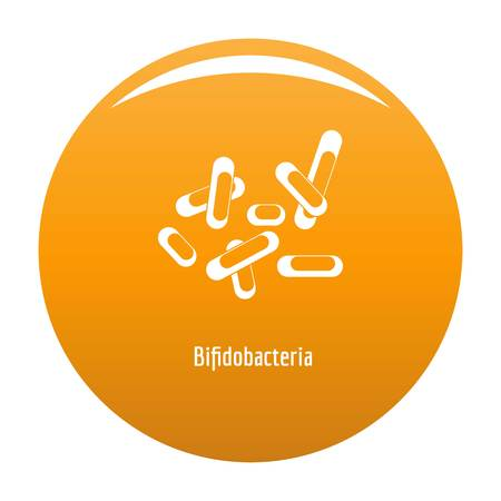 Bifidobacteria icon. Simple illustration of bifidobacteria vector icon for any design orange Illustration
