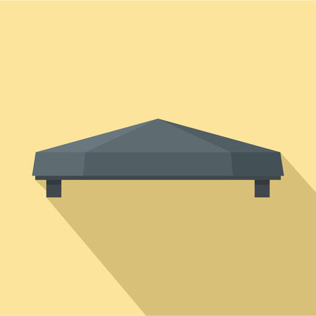 Outdoor tent icon. Flat illustration of outdoor tent vector icon for web design