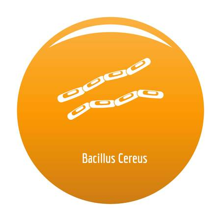 Bacillus cereus icon. Simple illustration of bacillus cereus vector icon for any design orange