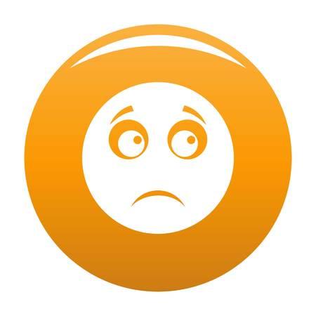 Sad smile icon. Vector simple illustration of sad smile icon isolated on white background