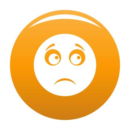 Sad smile icon. Vector simple illustration of sad smile icon isolated on white background