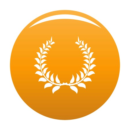 Plant wreath icon. Simple illustration of plant wreath vector icon for any design orange