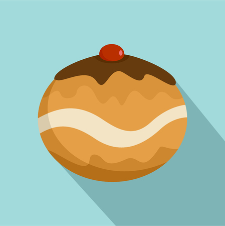 Judaism sweet bakery icon. Flat illustration of judaism sweet bakery vector icon for web design