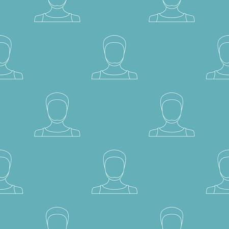 Man avatar pattern vector seamless repeating for any web design 일러스트