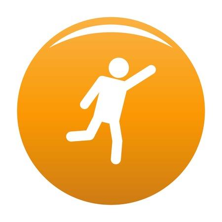 Figura stilizzata icona stickman pittogramma. Illustrazione semplice di vettore dell'icona di stickman isolato su priorità bassa bianca. Segno di bastone umano uomo