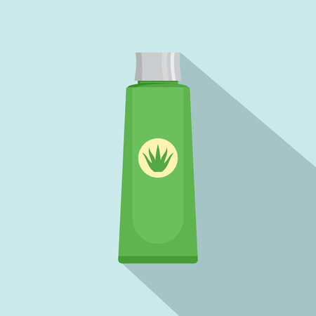 Aloe vera extract icon. Flat illustration of aloe vera extract vector icon for web design