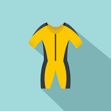 Thermo river clothes icon. Flat illustration of thermo river clothes vector icon for web design