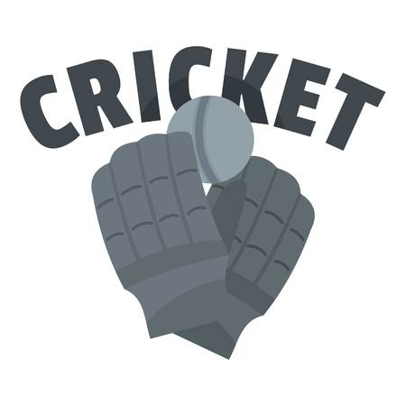 Cricket gloves  . Flat illustration of cricket gloves vector  for web design isolated on white background  イラスト・ベクター素材
