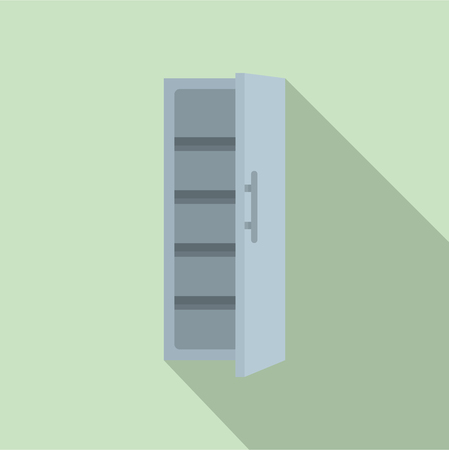 Kitchen fridge icon. Flat illustration of kitchen fridge vector icon for web design Vettoriali