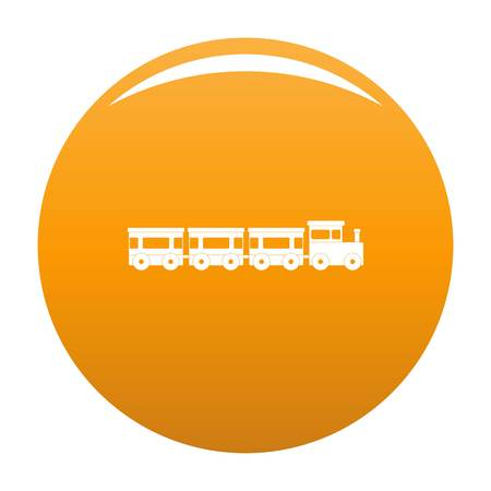 Express train icon. Simple illustration of express train vector icon for any design orange