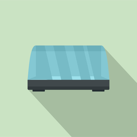 Commercial fridge icon. Flat illustration of commercial fridge vector icon for web design  イラスト・ベクター素材