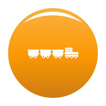 freight wagons icon. Simple illustration of freight wagons vector icon for any design orange