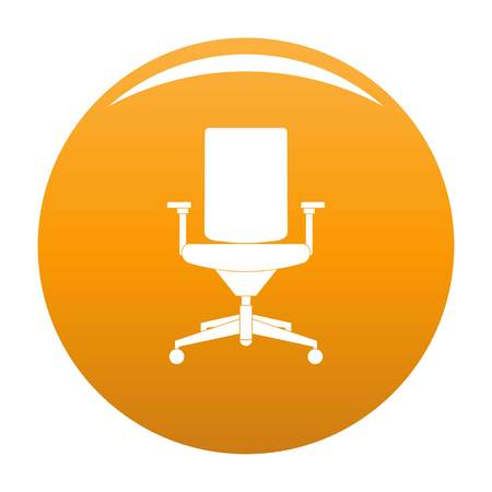 Comfortable armchair icon. Simple illustration of comfortable armchair vector icon for any design orange