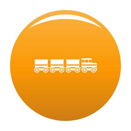 electric train icon. Simple illustration of electric train vector icon for any design orange