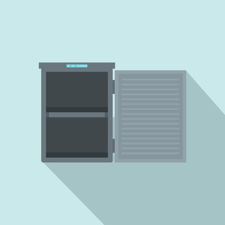 Freeze with 2 room icon. Flat illustration of freeze with 2 room vector icon for web design