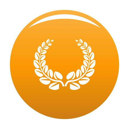 Award wreath icon. Simple illustration of award wreath vector icon for any design orange