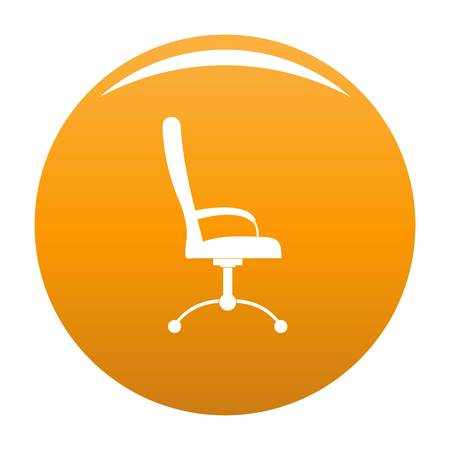 Massage chair icon. Simple illustration of massage chair vector icon for any design orange