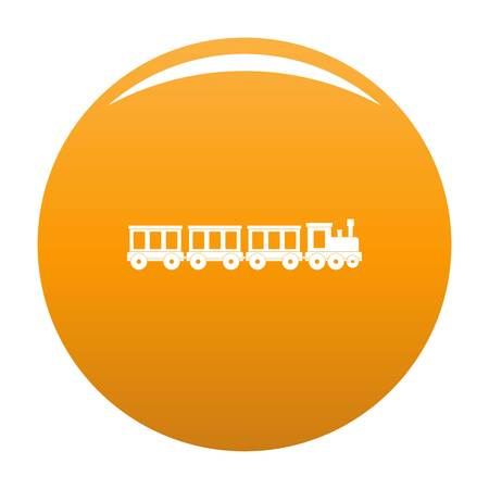 Passenger train icon. Simple illustration of passenger train vector icon for any design orange