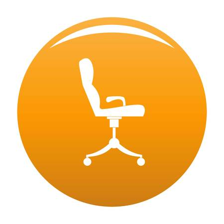 Armchair icon. Simple illustration of armchair vector icon for any design orange