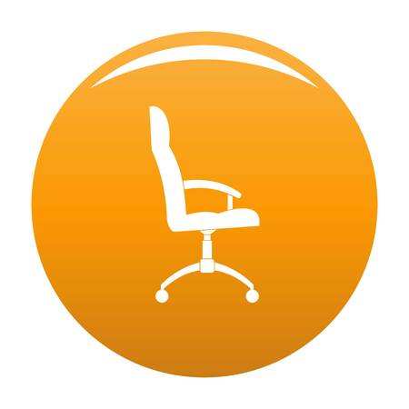 Office armchair icon. Simple illustration of office armchair vector icon for any design orange