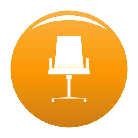 School chair icon. Simple illustration of school chair vector icon for any design orange