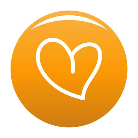 White heart icon. Simple illustration of white heart vector icon for any design orange