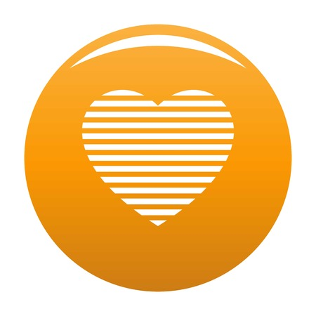 Warm heart icon. Simple illustration of warm heart vector icon for any design orange