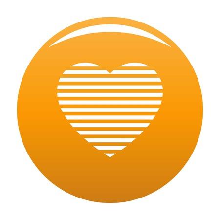 Warm heart icon. Simple illustration of warm heart vector icon for any design orange 版權商用圖片 - 102270654