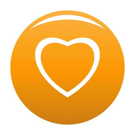 Fearless heart icon. Simple illustration of fearless heart vector icon for any design orange