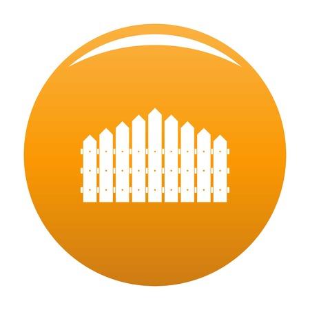 Triangular fence icon. Simple illustration of triangular fence vector icon for any design orange