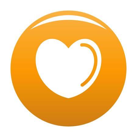 Poisoned heart icon. Simple illustration of poisoned heart vector icon for any design orange Illustration